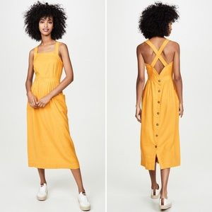 MADEWELL garment dyed apron midi dress 6